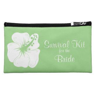Tropical Feijoa Hibiscus Bridal Survival Kit Makeup Bag