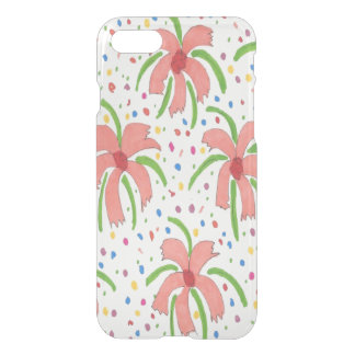 Tropical Fiesta Flowers Clear iPhone Case