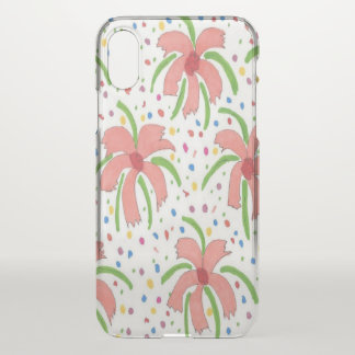 Tropical Fiesta Flowers Clear iPhone X Case