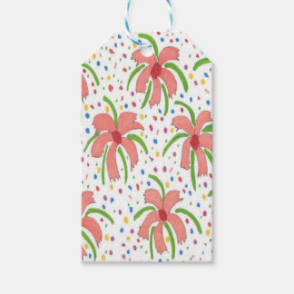 Tropical Fiesta Flowers Gift Tags