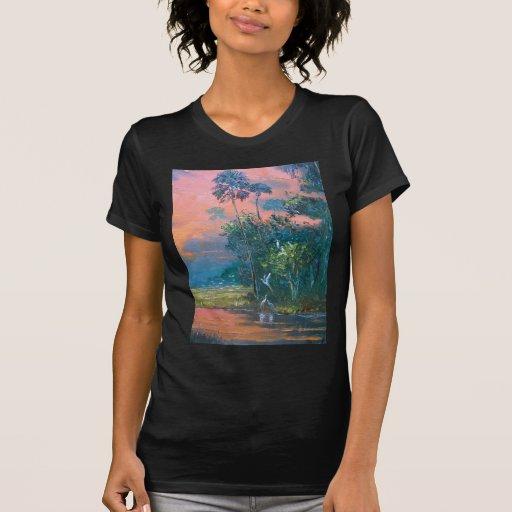 Tropical Fire sky Over the Pond T Shirt