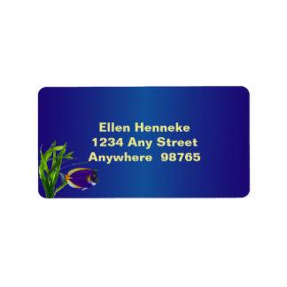 Tropical Fish 1 Address Label