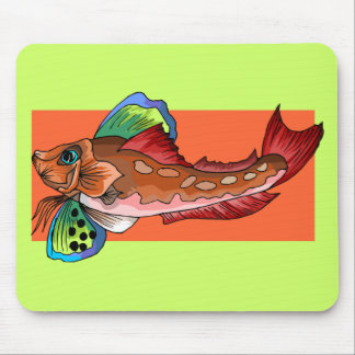 Tropical Fish 1 Popular Cool Retro Fish Mouse Pad