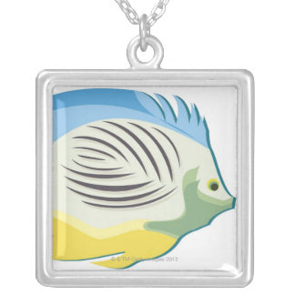 Tropical Fish 2 Silver Plated Necklace