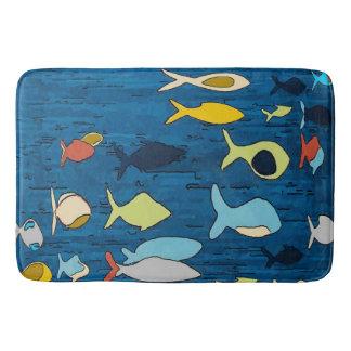 Tropical Fish Abstract Bath Mat
