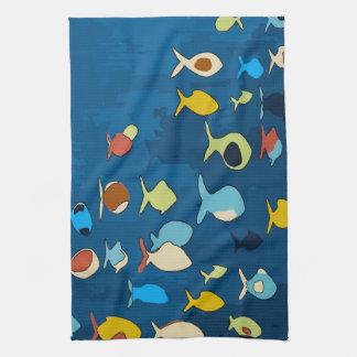 Tropical Fish Abstract Towel