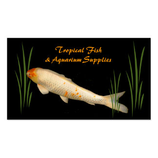 Tropical Fish and Aquarium Supplies Double-Sided Standard Business Cards (Pack Of 100)