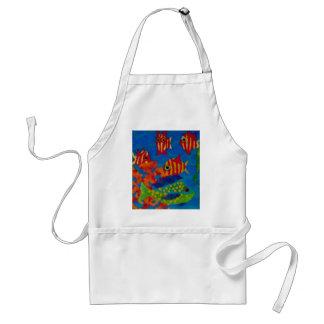 Tropical fish apron