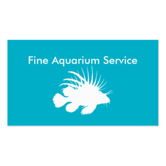 Tropical Fish Aquarium Service Double-Sided Standard Business Cards (Pack Of 100)