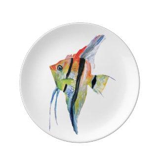 Tropical Fish Art Decorative Porcelain Plate