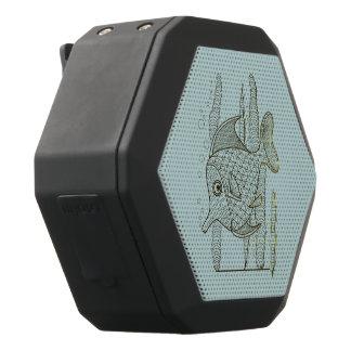 Tropical Fish Black Bluetooth Speaker
