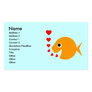 Tropical Fish  Breeder Pool Maintenance Card Business Card Template