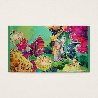 Tropical Fish Coral Reef Ocean Scene Business Card