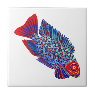 Tropical fish design decorative tile