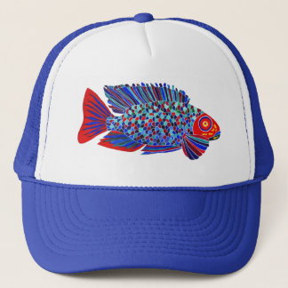 Tropical fish design trucker hat