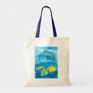 Tropical Fish Dolphin Ocean Tote Bag
