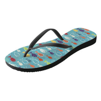 Tropical Fish Flip Flops