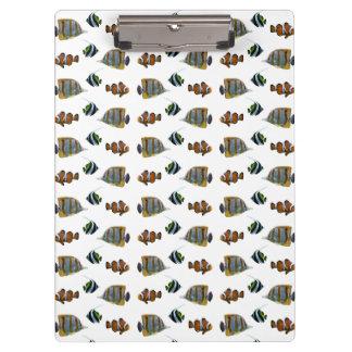 Tropical Fish Frenzy Clipboard (choose colour)