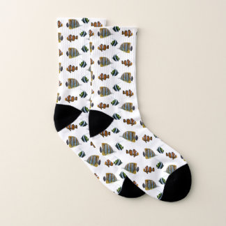 Tropical Fish Frenzy Socks (Choose Colour)