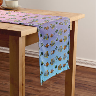 Tropical Fish Frenzy Table Runner (Rainbow)
