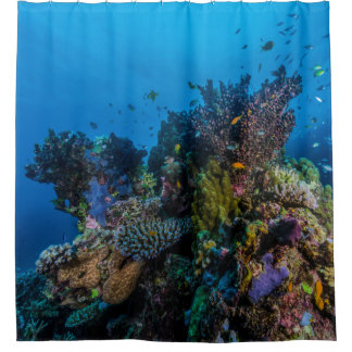 Tropical Fish Great Barrier Reef Coral Sea Gift Shower Curtain