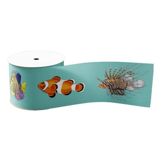 Tropical Fish Grosgrain Ribbon