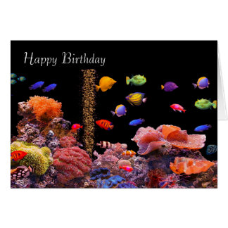 Tropical Fish image for birthday-greeting-card Card