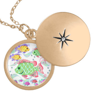 Tropical Fish Locket Necklace