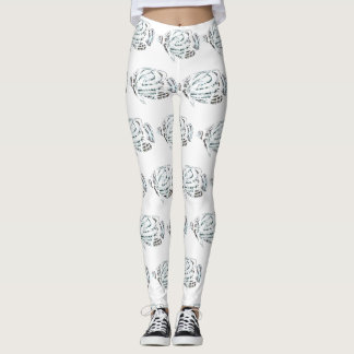 Tropical Fish Patterned Leggings