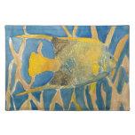tropical fish place mat
