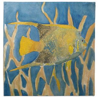 tropical fish printed napkin