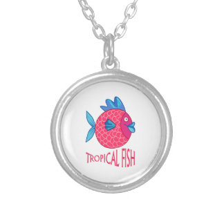 TROPICAL FISH ROUND PENDANT NECKLACE