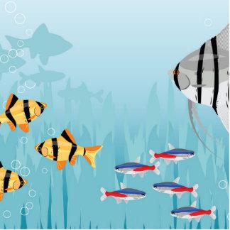 Tropical Fish Scene Photo Sculpture Magnet