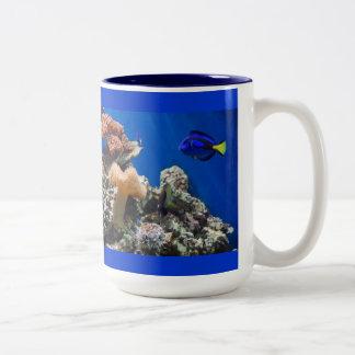 TROPICAL FISH SEALIFE CORAL DIGITAL REALISM OCEAN MUGS