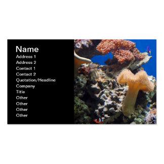TROPICAL FISH SEALIFE CORAL DIGITAL REALISM OCEAN PACK OF STANDARD BUSINESS CARDS