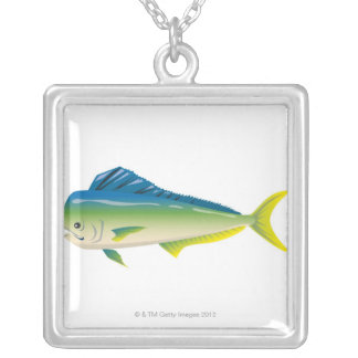 Tropical Fish Silver Plated Necklace