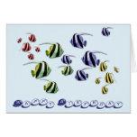 Tropical Fish Swimming Birthday Card