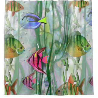 Tropical Fishies Shower Curtain