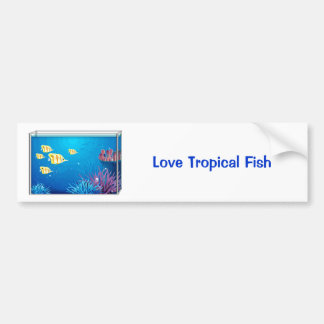 Tropical FishTank Car Bumper Sticker