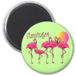Tropical Flamingo Art Gifts Magnets