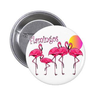 Tropical Flamingo Art Gifts Pins