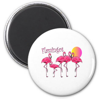 Tropical Flamingo Art Gifts Refrigerator Magnets