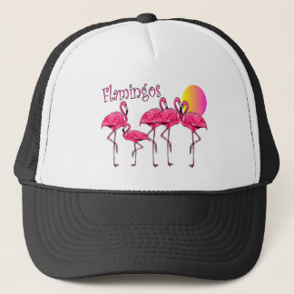 Tropical Flamingo Art Gifts Trucker Hat
