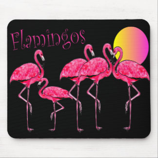 Tropical Flamingo Art Mousepad