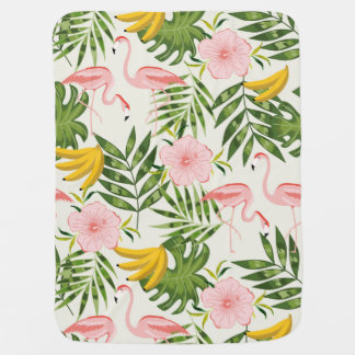 Tropical Flamingo Baby Blanket