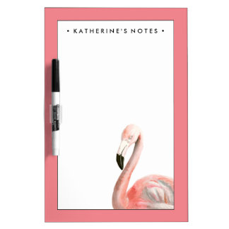 Tropical Flamingo Bird Dry Erase Board