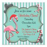 Tropical Flamingo Christmas Party Invitation