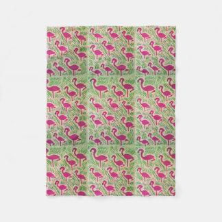 Tropical Flamingo Fleece Blanket