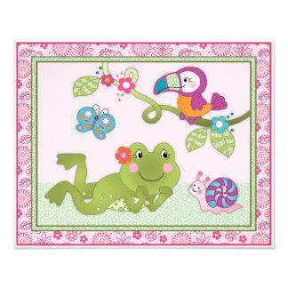 Tropical Flamingo Garden - Frog Nursery Art Print Photo Print