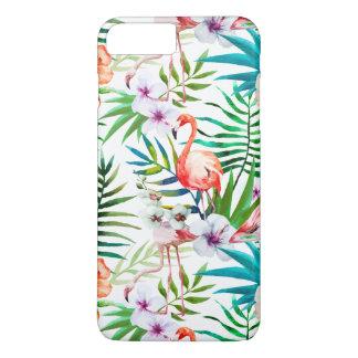 Tropical Flamingo Hibiscus Apple Iphone 7+ Case